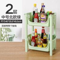 厨房置物架落地多层水果蔬菜架调料用品菜篮子筐收纳神器家用大全 1层