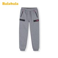 巴拉巴拉女童运动裤儿童裤子2019新款秋冬童装中大童加绒保暖韩版