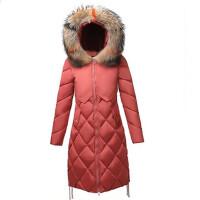 棉衣女中长款2018冬季新款羽绒韩版修身毛领加厚棉袄外套潮