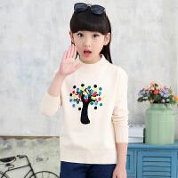 女童毛衣套头加厚2017新款儿童针织打底衫宝宝中大童装外套韩版