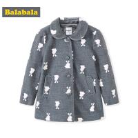 巴拉巴拉童装女童呢衣秋装新款韩版小童宝宝外套洋气毛呢大衣