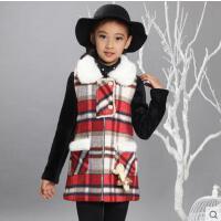 秋冬季新款女童外套冬装儿童呢大衣中长款中大童韩版毛呢子潮