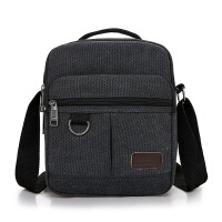 男士包包男包帆布包单肩包斜挎包商务公文包休闲竖款手提小包背包