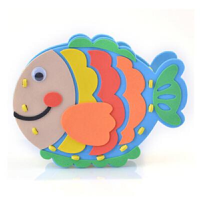 儿童手工制作diy材料包 eva笔筒 幼儿园礼物diy创意益智拼装玩具_小鱼