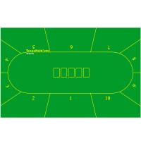 90*180厘米 德州扑克专用道具桌布 桌垫 台布 10人位无纺布