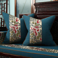 新中式沙发抱枕棉麻客厅休闲实木家具靠枕靠垫红木椅子背靠抱枕套