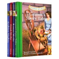 开始读经典:童话故事与神话4册套装 英文原版Arabian Nights格林童话 天方夜谭