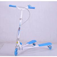 萌味 儿童滑板车 儿童三轮蛙式滑板车七彩图闪光折叠儿童脚踏滑板车