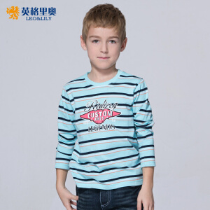2018新款秋装男童条纹圆领T恤长袖中大童纯棉童装儿童打底衫体恤