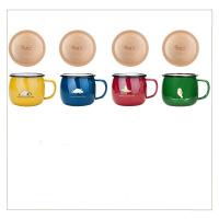 【家装节 夏季狂欢】珐琅 海洋公园创意搪瓷杯办公室马克杯情侣儿童带盖水杯杯子 +盖子