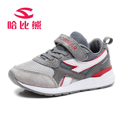 哈比熊童鞋男童运动鞋春秋季网鞋透气跑步鞋女童鞋休闲鞋