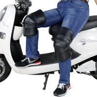 征伐 摩托车护膝 冬季保暖加厚防风护腿短款摩托车电动车护具