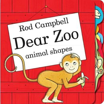 亲爱的动物园-动物图形触摸书 英文原版 dear zoo animal shapes rod