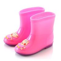 小孩加棉雨靴儿童雨鞋加绒可防滑幼儿园雨靴3岁5岁拆卸水鞋加棉男女童保暖