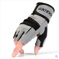 哑铃单杠器械健身房 健身手套男加长大护腕半指运动手套