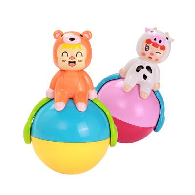 婴儿不倒翁玩具音乐点头娃娃3-6-9-12个月宝宝早教益智0-1岁