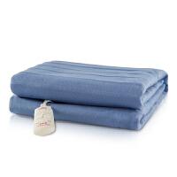 彩阳电热毯双人上下3档双温双控加厚安全防水电褥子 WT202蓝色