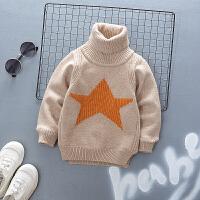 男童高领毛衣加绒加厚儿童季小童保暖上衣婴儿宝宝打底衫秋款