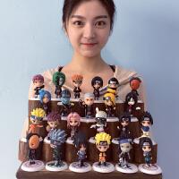 Q版火影忍者手办人偶礼物玩具摆件佐助全套23款模型动漫周边公仔