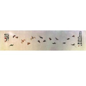 近现代中国绘画大师 齐白石《虫草图》DW228