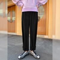 毛菇小象毛衣女秋冬外穿套头2076新款宽松圆领显瘦绑带毛针织衫