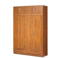 御品工匠 现代中式 实木衣柜 大衣柜 木衣柜 橡木衣柜 板木结合衣柜 可加顶柜 f141