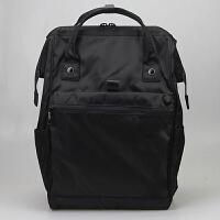 系大容量牛津布双肩电脑包时尚上班出差旅游男女大学生书包 黑色 实物商标