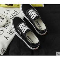 鞋女布鞋女帆布鞋新款小黑鞋学生经典情侣休闲板鞋