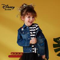 迪士尼宝宝森林探险男童梭织牛仔外套2018秋款上新