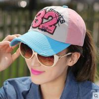 韩国时尚拼色遮阳棒球帽子女士网红同款时尚户外运动新品32防晒情侣鸭舌帽男潮