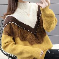 宽松女士毛衣复古2019新款时尚外穿套头慵懒打底衫女冬洋气