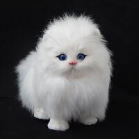 仿真动物模型小猫咪动物玩具会叫的猫玩偶仿真猫咪aQ