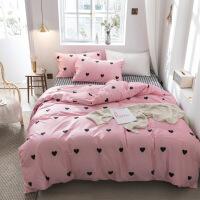 北欧床上四件套棉纯棉小清新被套床笠床单三件套床上用品