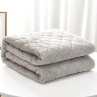 珊瑚绒床单毛毯垫被子加厚单人宿舍女学生冬季双层夹棉盖毯沙发毯