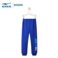 鸿星尔克(ERKE)童装男童卫裤新款裤子休闲儿童秋季针织长裤