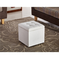 收纳凳子储物凳可坐人换鞋凳试鞋凳多功能沙发凳收纳盒防水布艺革 白色 33cm小 其他