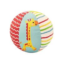 【当当自营】费雪FisherPrice 6片动物认知球 4寸婴儿手抓球摇铃球铃铛球婴儿玩具球布球 F0806