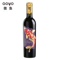 aoyo傲鱼智利原装进口红酒西拉珍藏级干红葡萄酒375ml*1