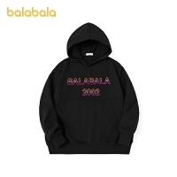 【3件4折:75.6】巴拉巴拉女童洋�庑l衣2020新款�和�秋冬大童��潮�B帽上衣潮酷男童