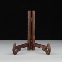 实木瓷盘架艺术盘架普洱茶饼展示架红木支架托盘盆架 1