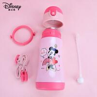迪士尼儿童保温杯316不锈钢幼儿园宝宝水杯婴幼儿带吸管便携水壶