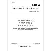 Q/GDW 13372.56 国家电网公司技能人员岗位能力培训规范 第56部分:水工监测