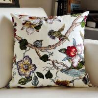 复古中式红木沙发抱枕套腰枕大号靠枕床头靠垫大靠背垫布艺枕头垫