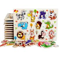 拼图儿童益智玩具1-3周岁幼儿玩具2-3-6岁宝宝木质手抓板嵌板