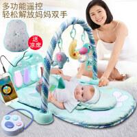 新生婴幼儿脚踏钢琴健身架器音乐毯游戏毯3-6-12个月男女宝宝玩具