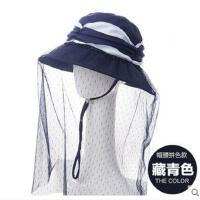 女防紫外线太阳帽 可折叠遮阳帽 韩版潮大沿凉帽遮脸防晒帽