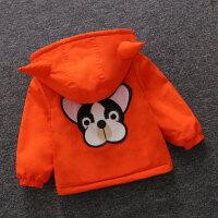 童装男童外套秋装2017新款韩版儿童加绒加厚棉衣男宝宝加厚外套