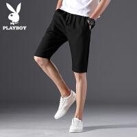 花花公子短裤男2020夏季新款五分休闲裤夏季运动青年潮流时尚男士上装