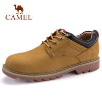 camel骆驼男鞋 秋季新款牛皮工装鞋马丁鞋潮男时尚户外休闲鞋子