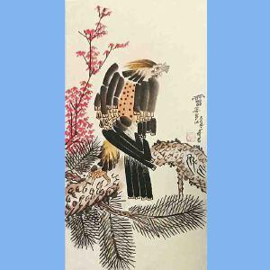 现代画家,美术教育家,曾任中国美协副主席,第一二三届全国人大代表潘天寿(花鸟)